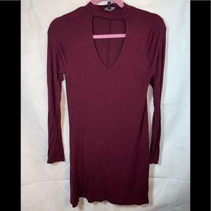 EXPRESS Womens dress long sleeve rayon/spandex EUC